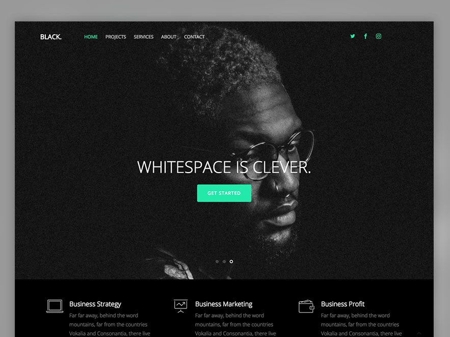 Black Free HTML5 Multi Purpose Website Template