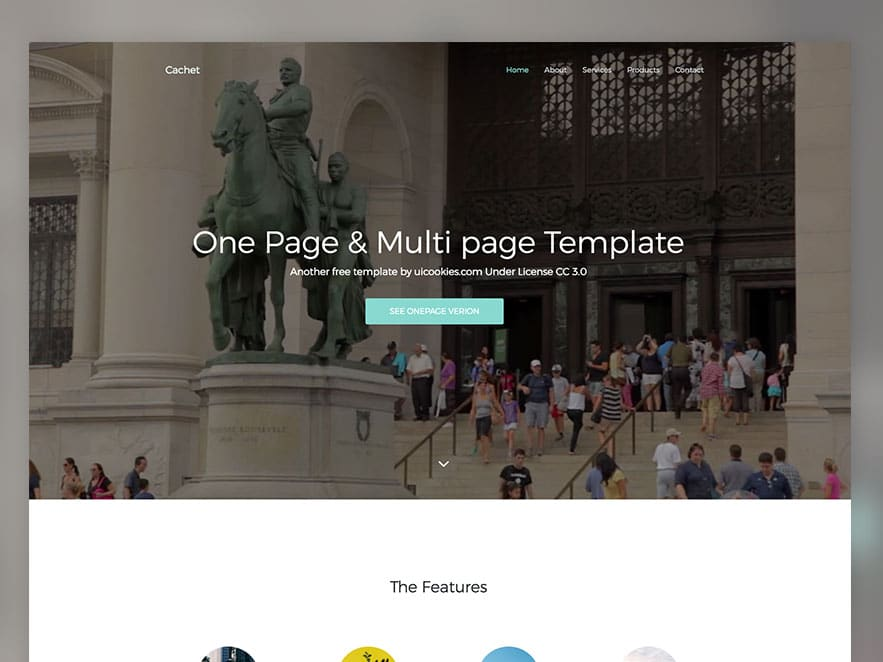 Cachet Free HTML5 Bootstrap 4 Template One Page Multi Page Template