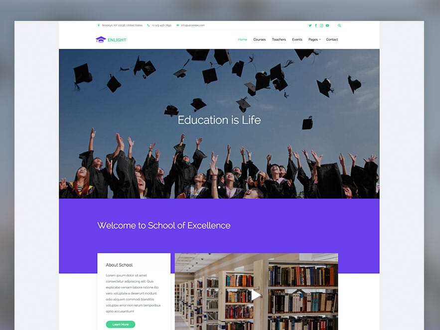 Enlight Free Education Responsive Bootstrap Website Template