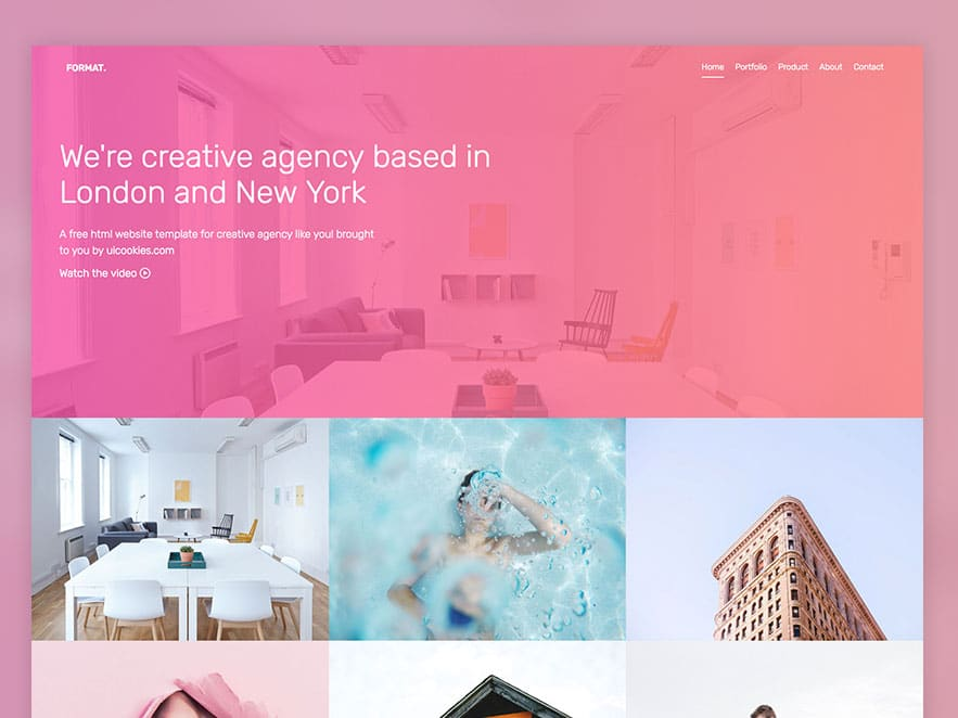 Format Free Website Template Using Bootstrap For Portfolio