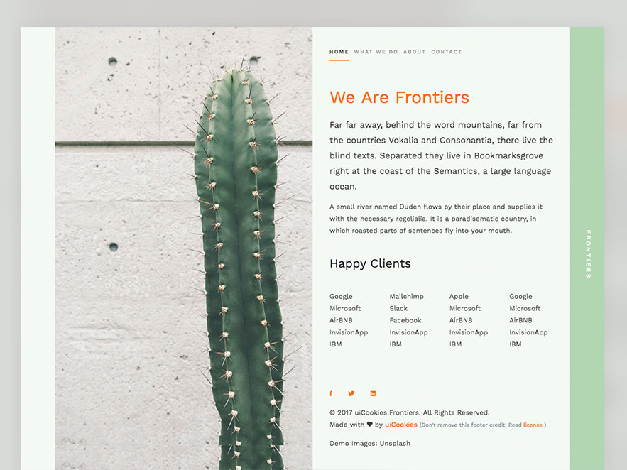 Frontiers Free HTML5 Bootstrap 4 Template