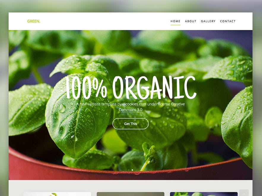 Green Free HTML5 Website Template Using Bootstrap Framework
