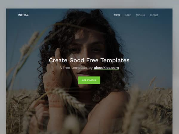 Initial Free Bootstrap 4 Template for Creative People