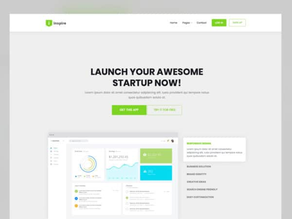 Inspire Landing Page Bootstrap Website Template