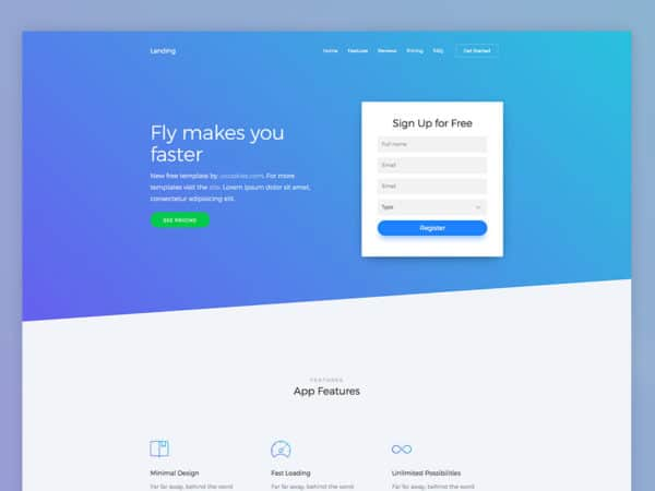 Landing Free OnePage Bootstrap 4 Template