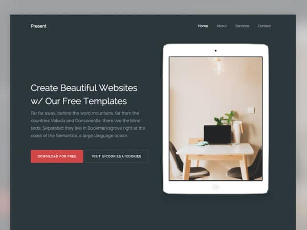 Present Free HTML5 Bootstrap 4 Template