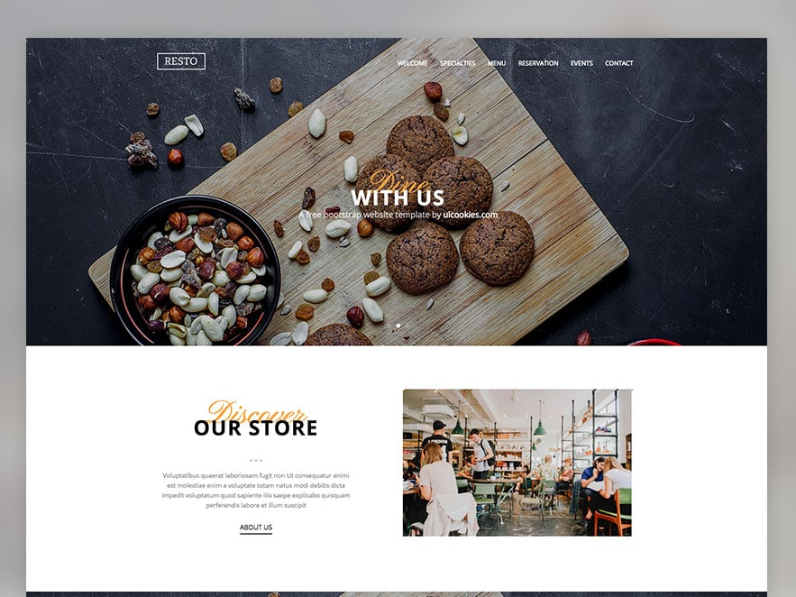 Resto Free Restaurant Responsive Bootstrap Website Template