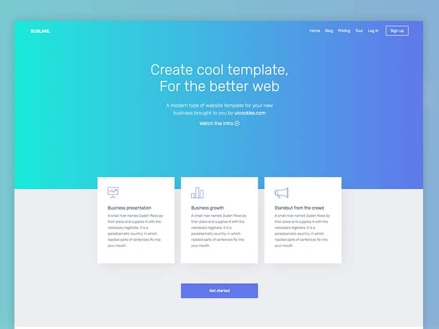 Sublime Free Responsive Bootstrap Website Template