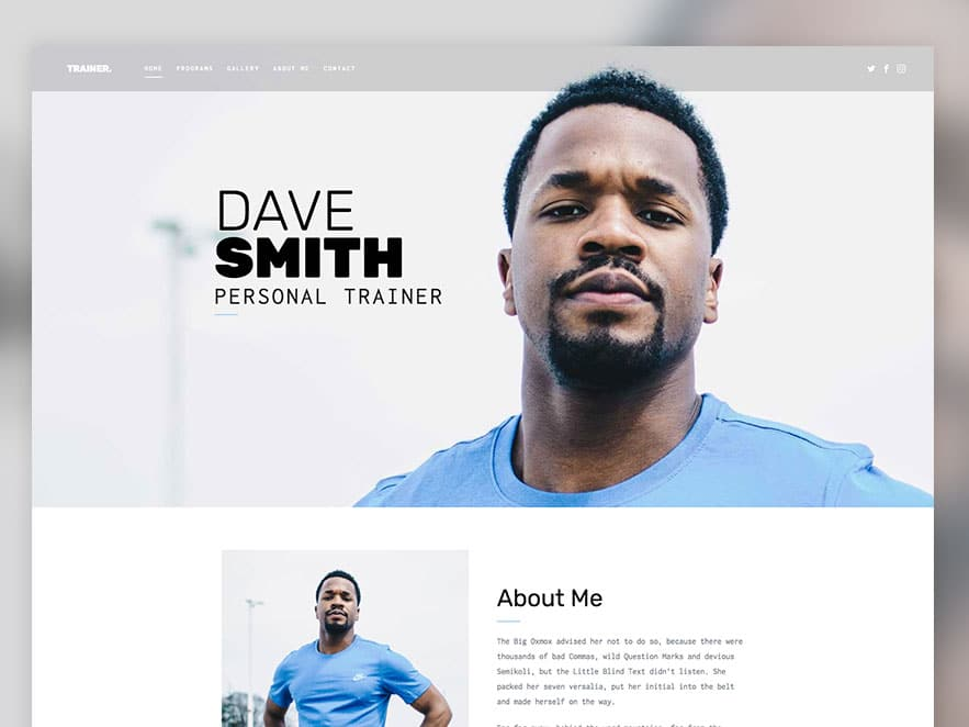 Trainer Free Html5 Template Using Bootstrap For Fitness Websites