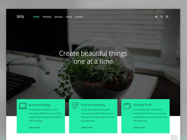 Virb Free HTML5 Multi Purpose Website Template