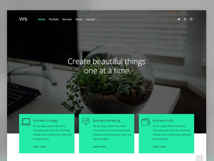 Virb Free HTML Multi Purpose Website Template UiCookies - Word website template
