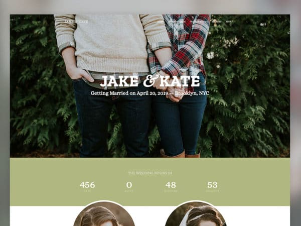 Wedding Free Onepage HTML5 Template Using Bootstrap
